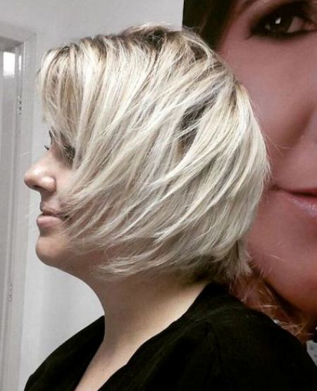 Wind blown bob short blonde hairstyles and haircuts