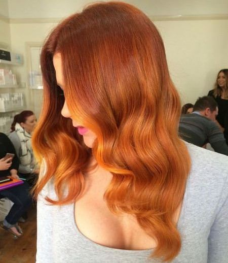 amber waves shades of red hair for women