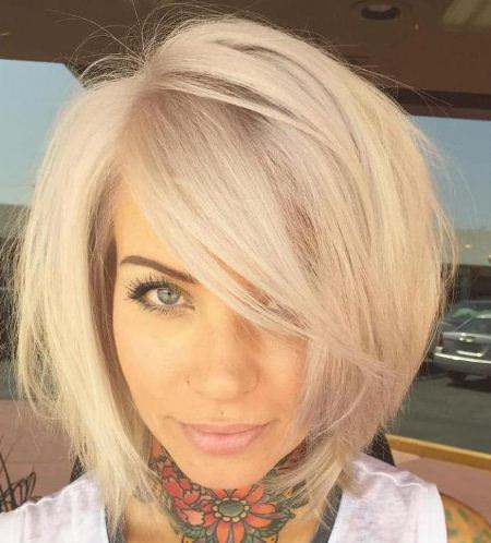 blonde bob with flirty bangs short blonde hairstyles and haircuts