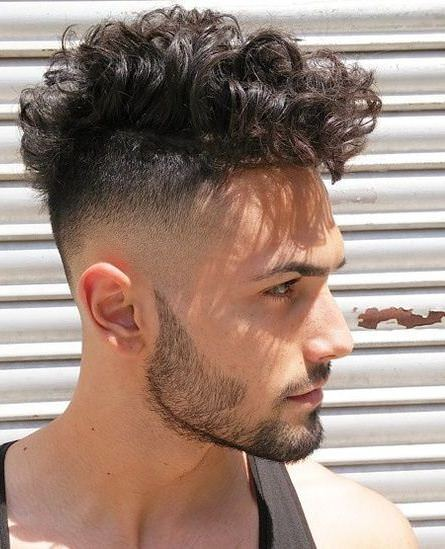 curl on top curly hairstyles for men