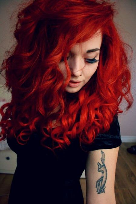 fiery ringlets shades of red hair for women