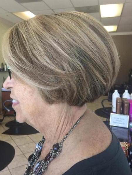 highlighted short hair for senior hairstyles and haircuts for women over 60