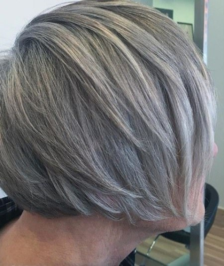 modern layered cut hairstyles and haircuts for women over 70