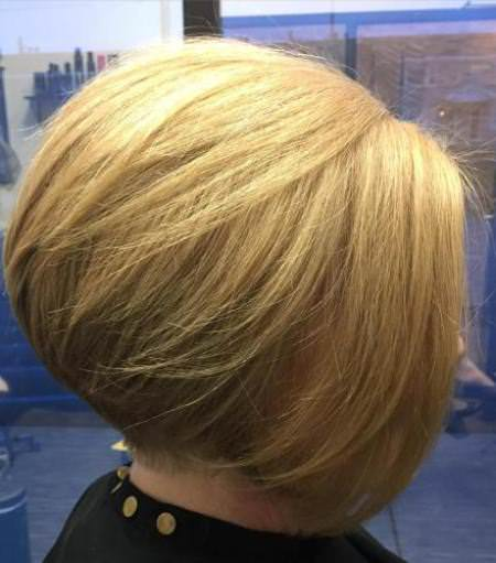 rounded bob with swoopy layers hairstyles and haircuts for women over 60