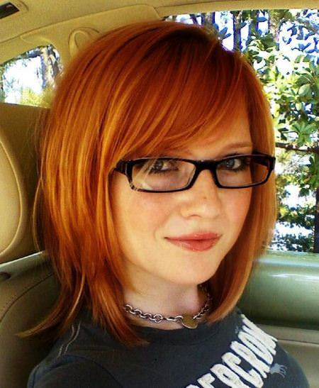 spicy side bangs shades of red hair for women