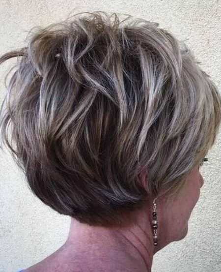 stacked ash layers hairstyles and haircuts for women over 60