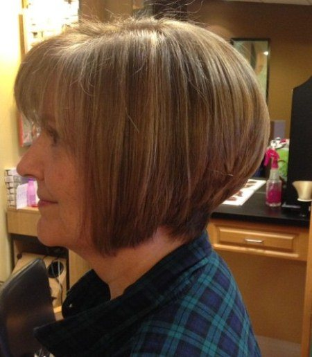 stacked bob hairstyles and haircuts for women over 60