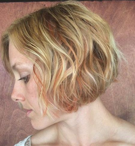 waves of colors short blonde hairstyles and haircuts